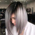Silver Metallic Long Bob Hairstyles for 2021