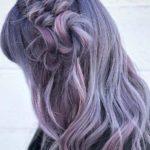 Smokey Purple Braid Styles for Long Hair in 2018