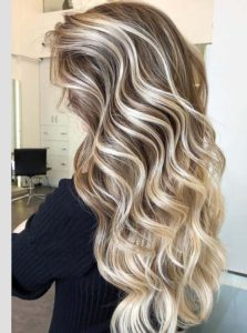 Soft Long Curls with Hottest Hair Colors for 2018