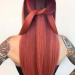 Stunning Long Sleek Red Hairstyles in 2021