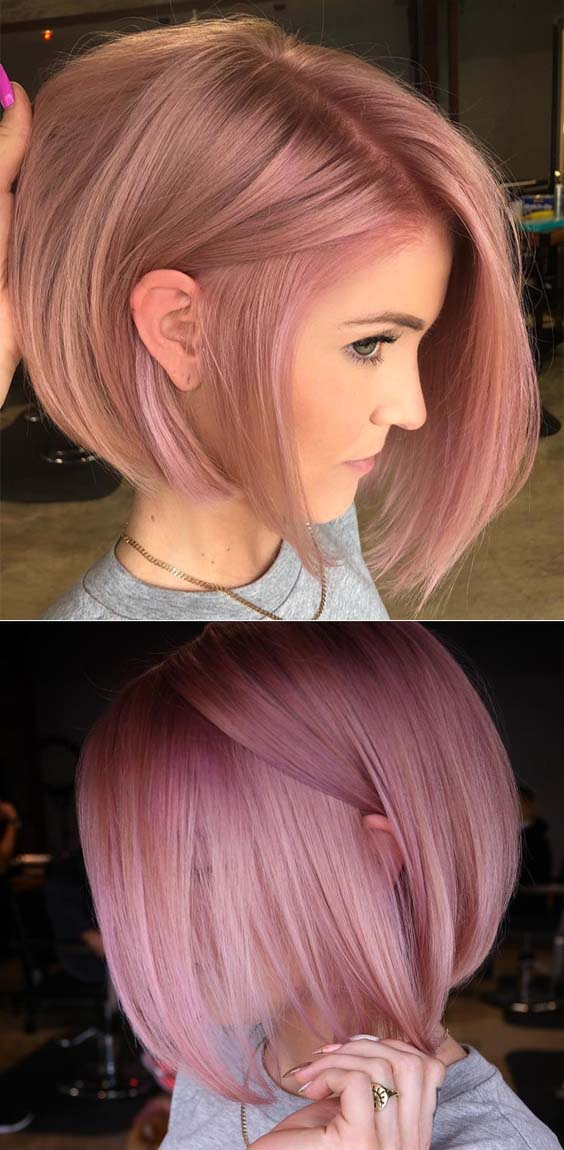 45 Stunning Ideas of Pink Bob Haircut Styles for 2018