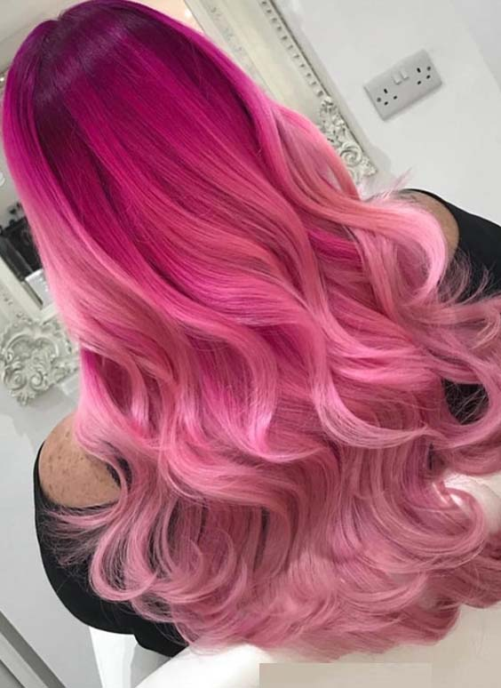34 Stunning Pink Ombre Hair Color Ideas for Women in 2021