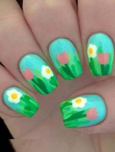 Summer Flower Nail Art Designs in 2018