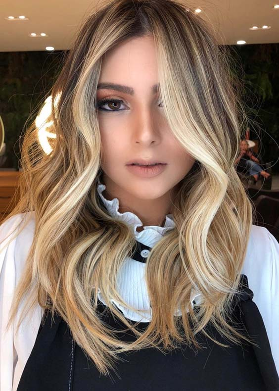54 Superb Blonde Balayage Highlights To Show Off in 2018