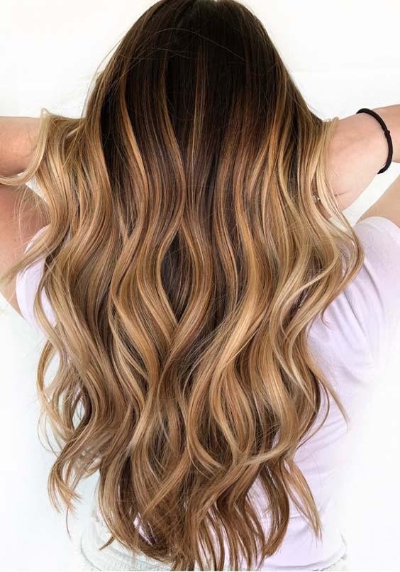 56 Sweet Caramel Balayage Hair Color Ideas in 2021