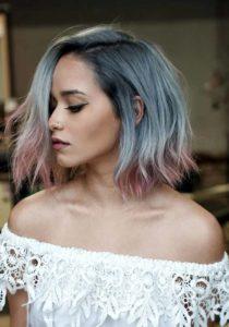 Titanium Ombre Hair Color Ideas for 2021