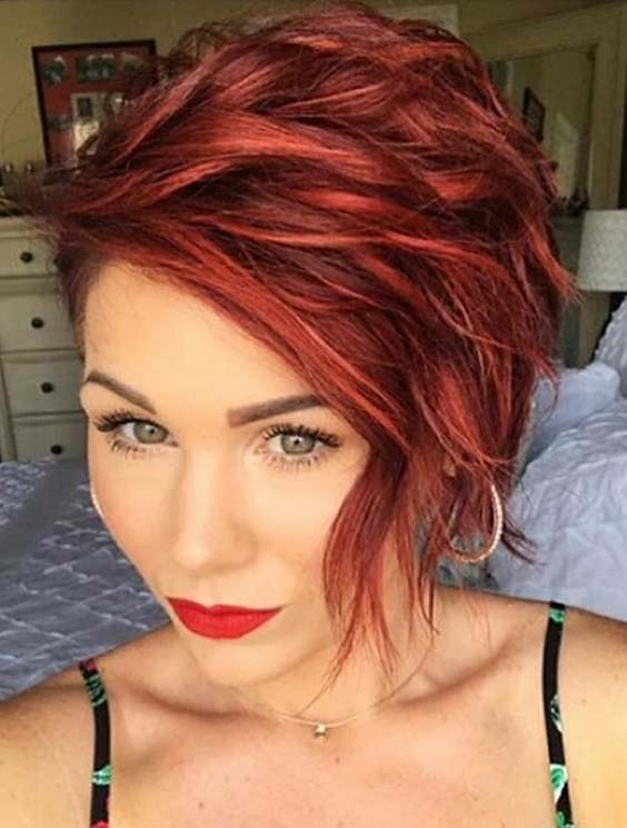 52 Trendy Short Red Haircuts & Hairstyles for 2021