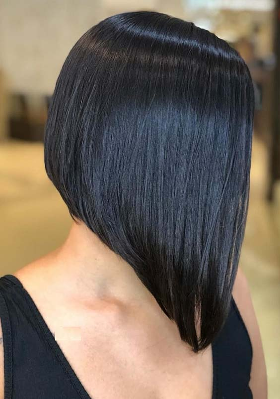 20 Trendy Angled Bob Haircuts for Women 2018