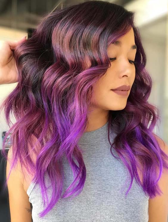 51 Best Ideas Of Purple Hair Color Trends for 2018