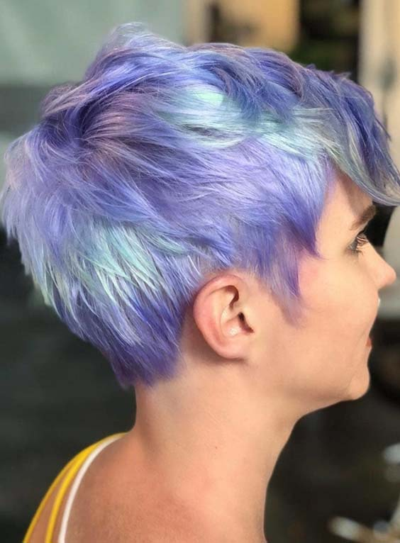 33 Best Blue Short Pixie Haircut Styles for 2018