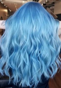 Bright Blue Hair Color Ideas for 018