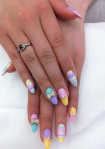 Colorful Long Nail Art Designs for 2021