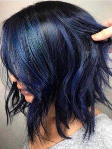 Deep Blue Hair Color Ideas for 2021
