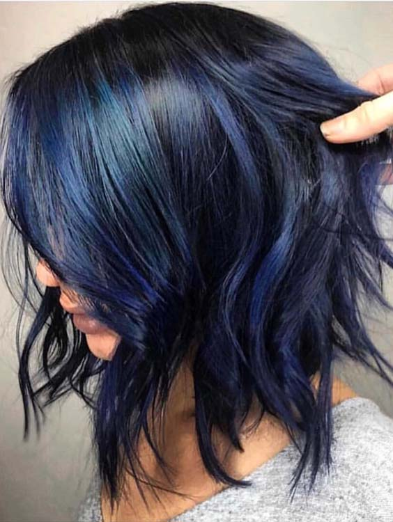 34 Awesome Deep Blue Hair Color Ideas For 2018 Modeshack