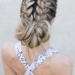 Double French Messy Bun Hairstyles for 2021
