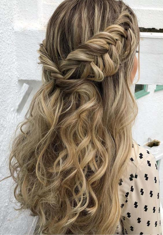 44 Elegant Half Up Fishtail Hairstyles Trends for 2018