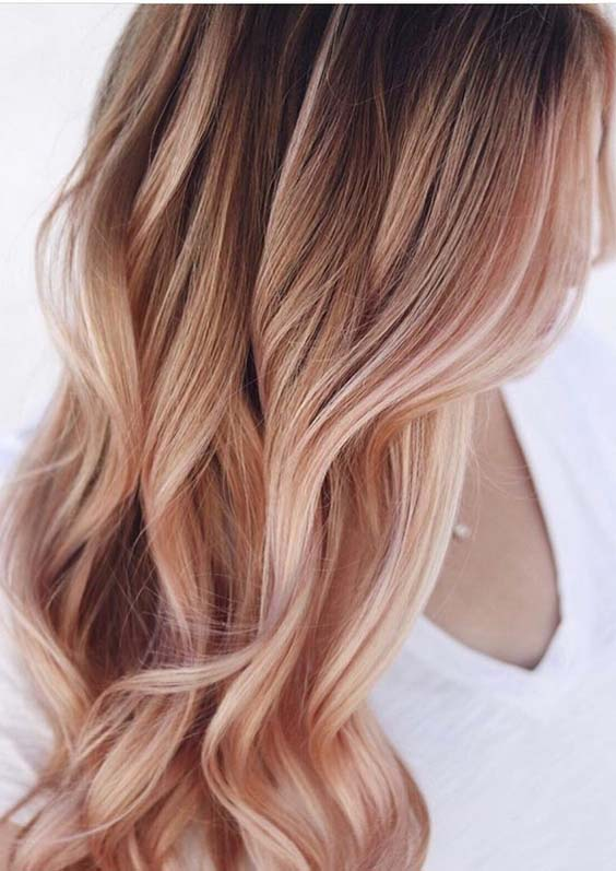 43 Excellent Rose Gold Hair Color Shades for 2018