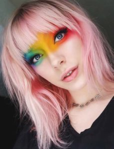 Fabulous Pink Hair Colors & Haircuts with Bangs 2018
