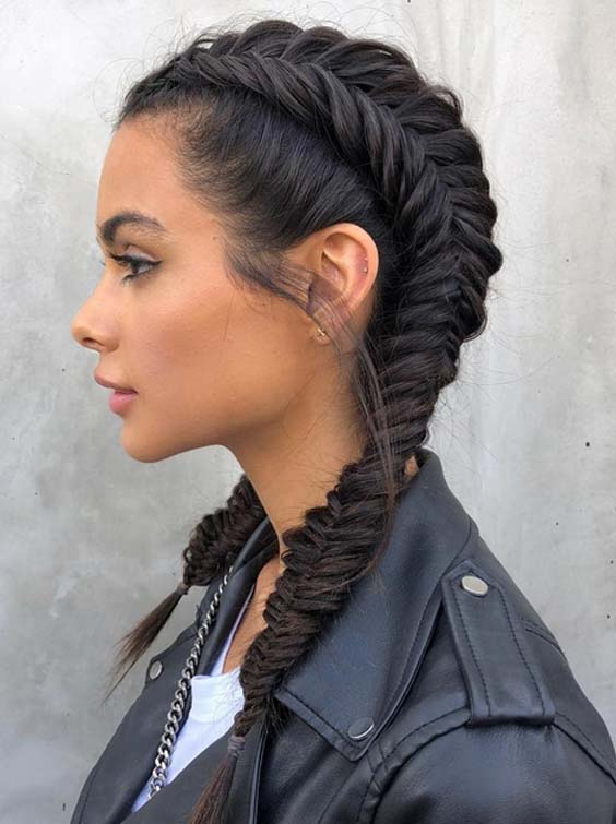 35 Gorgeous Fishtail Dutch Pigtail Braids to Create in 2018