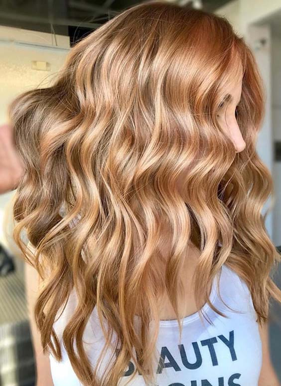 60 Gorgeous Golden Long Waves Hairstyles for 2018