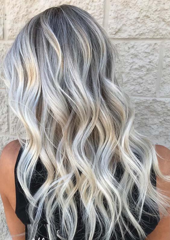 22 Adorable Grey Blonde Hair Color Ideas in 2021