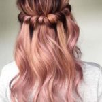 Half Up Rose Gold Balayage Ombre Hairstyles in 2018