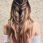 Half-up Fishtail Braids with Smooth Shiny Waves for 2018