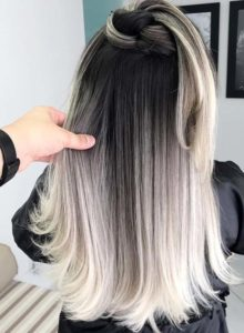 High Contrast Rooty Blonde Hair Color Trends for 2018