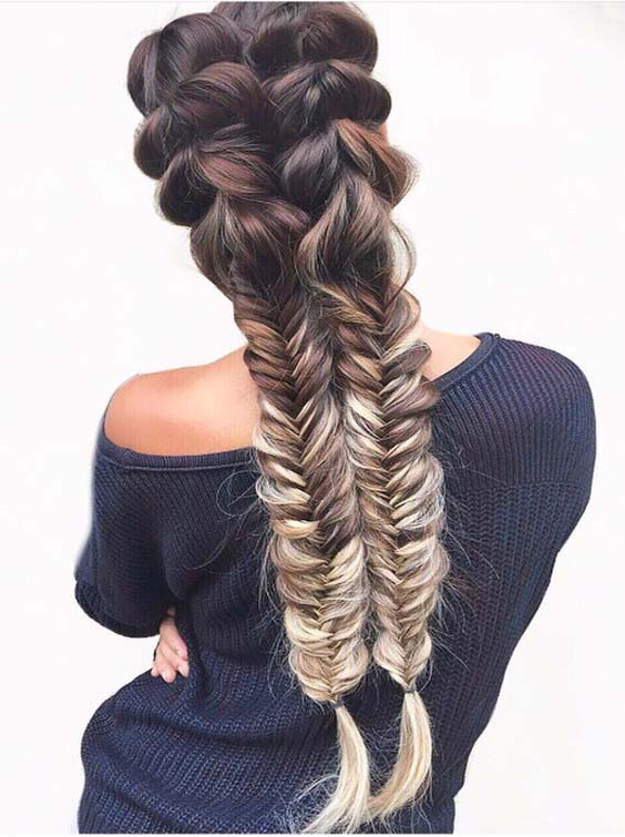 32 Hottest Fishtail Braids to Show Off in 2018