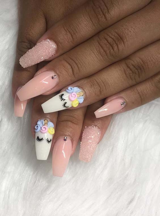 42 Gorgeous Light Pink Nail Designs & Images for 2018