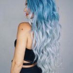 Long & Flowy Blue Ombre Locks in 2021
