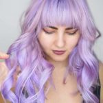 Long Purple Hairstyles with Bangs in 2018