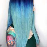 Long Sleek Blue Hairstyles & Hair Colors in 2018