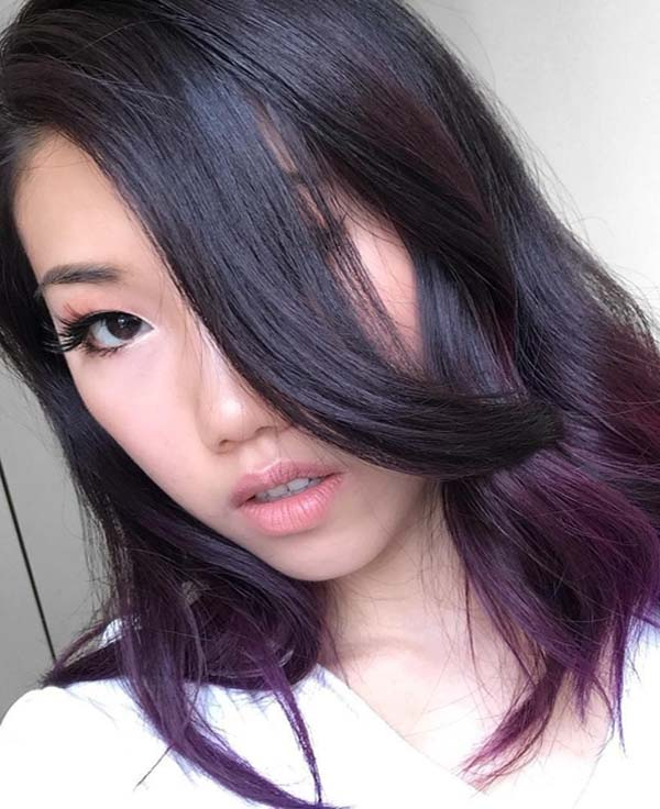 23 Best Medium Length Purple Haircuts for Women 2018