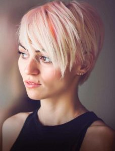 Pastel Pink Colors for Short Pixie Haircuts for Women 2018