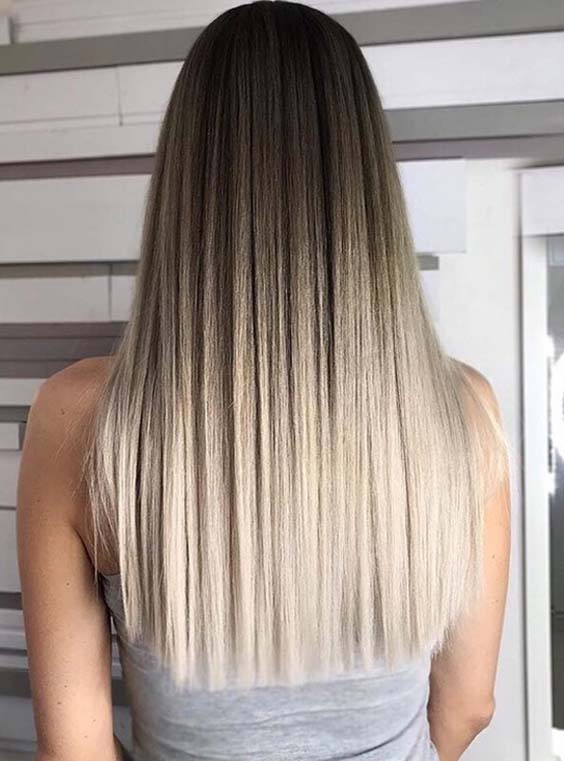 44 Perfectly Blended Sleek Straight Hairstyles for 2018