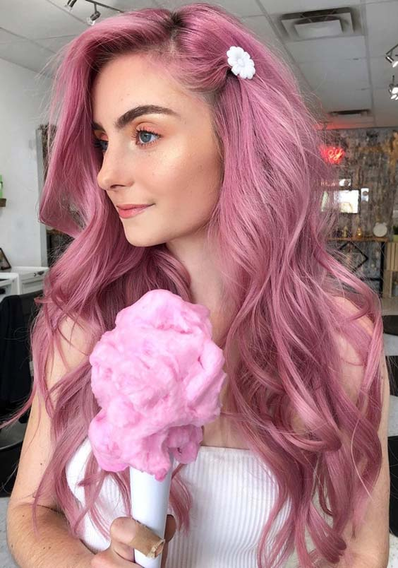 37 Popular Pink Hair Colors for Long Hair in 2018