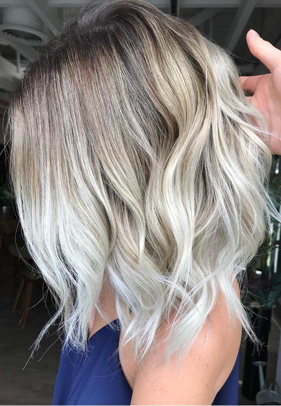 53 Popular Platinum Balayage Hair Color Ideas for 2018