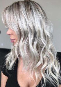 Platinum White Blonde Hair Color Shades in 2018