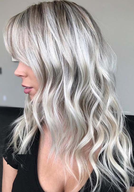 31 Famous Platinum White Blonde Hair Color Shades for 2021