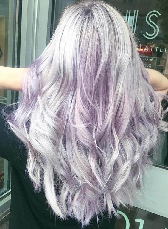 55 Prettiest Light Purple Hair Color Ideas for Women 2018