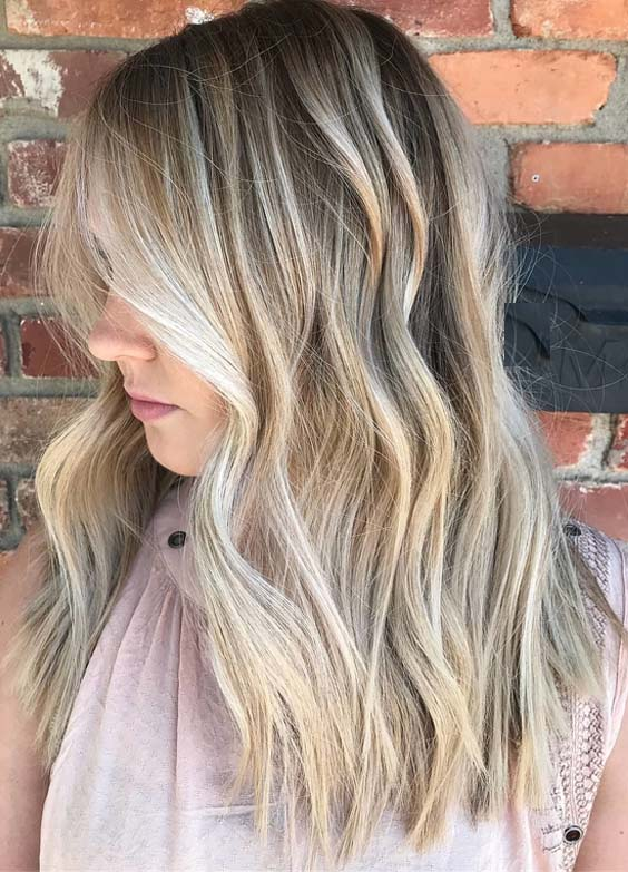 Top 40 Rooted Beach Blonde Hair Colors & Hairstyles for 2018