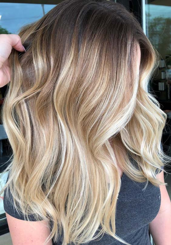 55 Amazing Rooted Blonde Balayage Hair Highlights for 2018