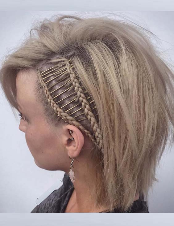 53 Best Short Haircuts with Side Braids for 2021