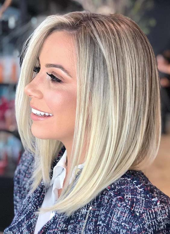 44 Stunning Shoulder Length Blonde Haircuts For 2018 Modeshack