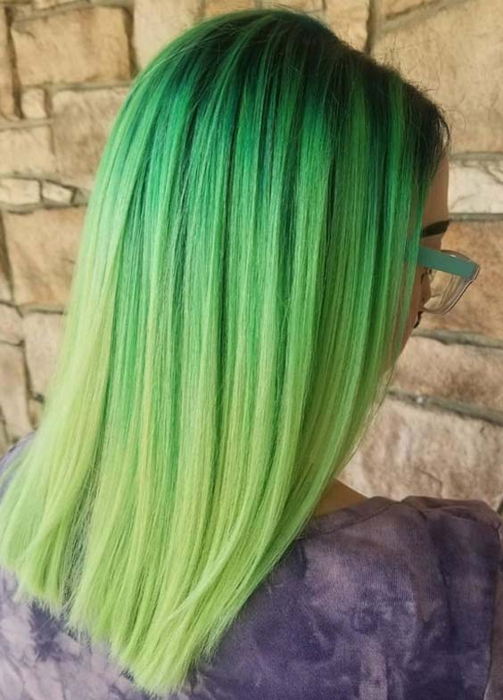46 Stunning Green Hair Color Shades to Show Off Right Now