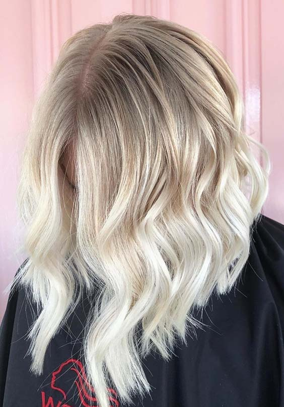 54 Stunning Hair Color Blends for Lob Styles to Copy