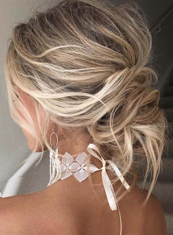 49 Stunning Undone Updos You Need to Try in 2018