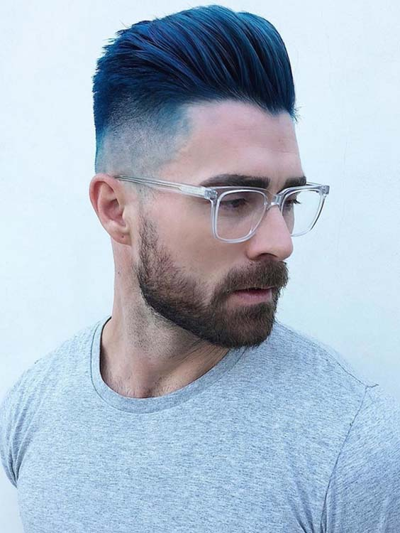 40 Best Undercut Short Blue Haircuts for Men 2018