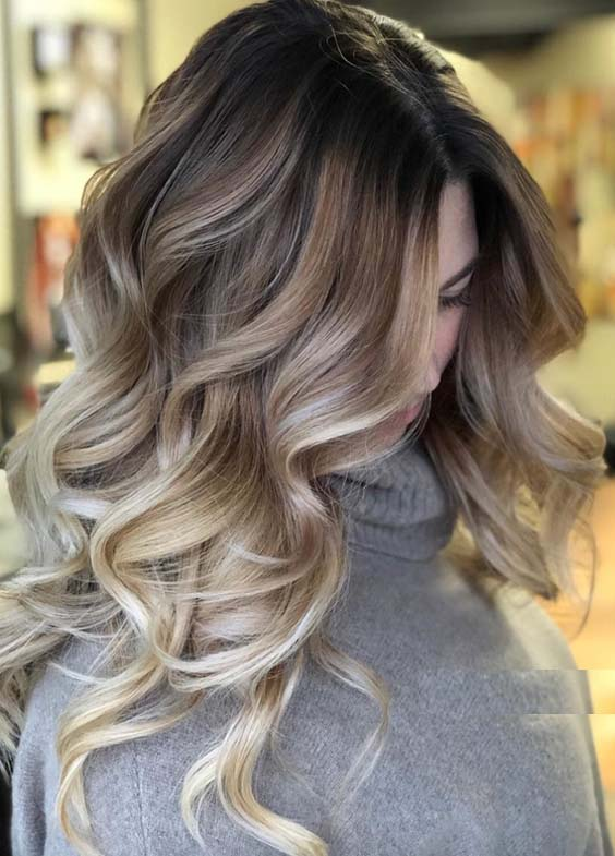 46 Amazing Balayage Highlights with Dark Roots in 2018